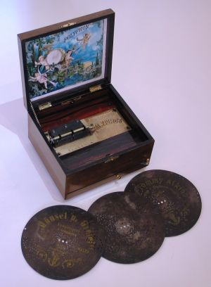 A disc musical box by Polyphon of Leipzig, Germany
