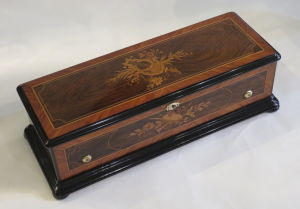 An antique Swiss Cylinder musical box