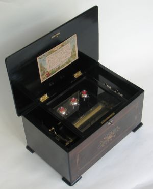 "A ""3 bells in sight"" cylinder musical box"