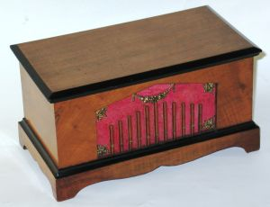 Rare hand-cranked cylinder musical box