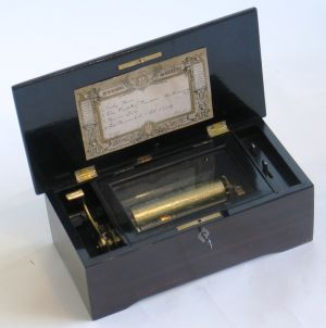 Cylinder Musical Box By L'Epee